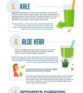 10 Perfect Superfood Ingredients For Your Super Smoothies Infographic