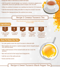 5 Turmeric Tea Recipes For Better Health Infographic