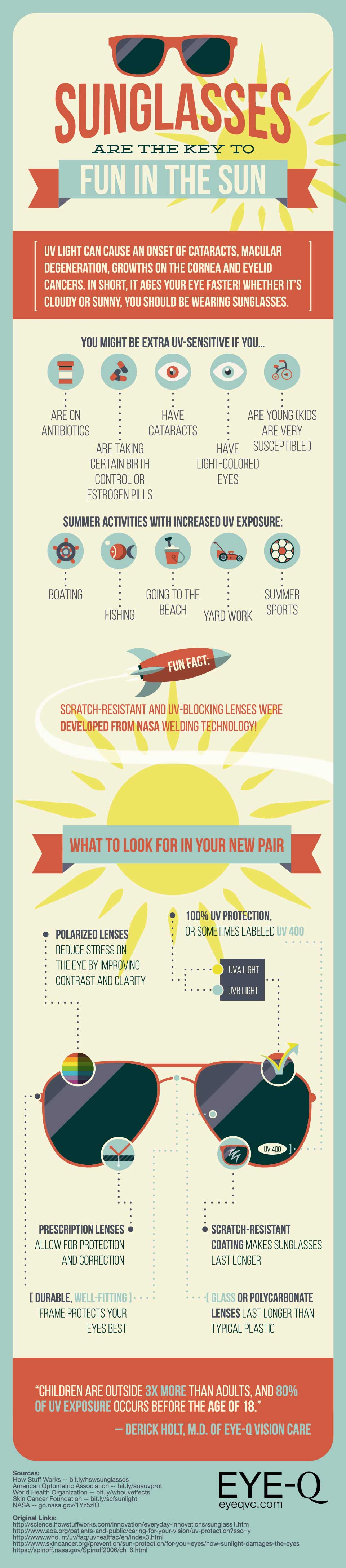 Sunglasses: The Key To Healthy Summer Infographic