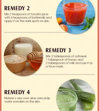 10 Natural Remedies For Curing Dark Spots On Your Skin Infographic