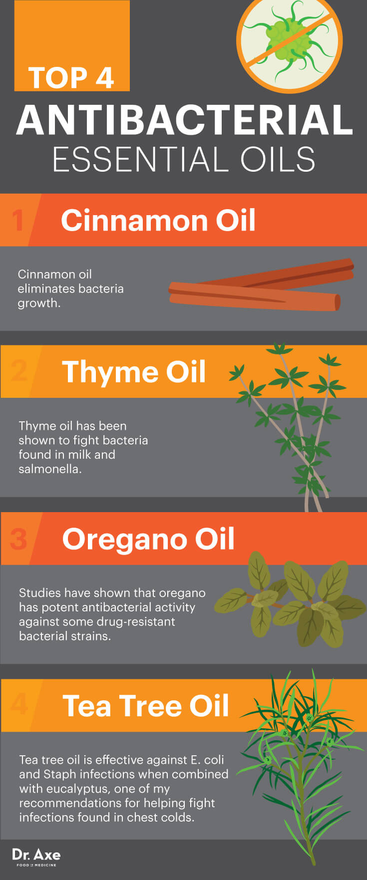 The Most Effective Essential Oils For Fighting Bacteria Infographic