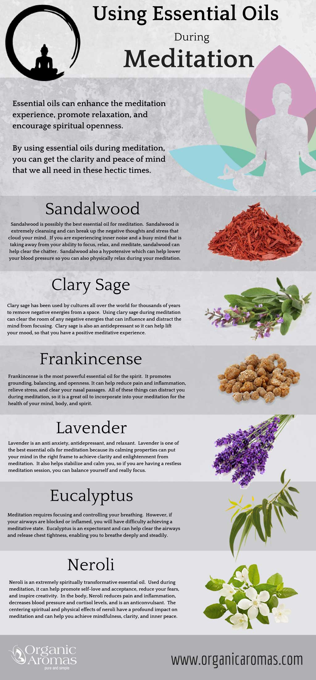 Your Guide To Using Essential Oils For Meditation Infographic