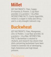 7 Super Nutritious Gluten-Free Grains For Your Healthy Diet Infographic