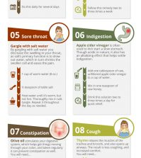 A Comprehensive Chart To Curing Common Ailments Naturally Infographic