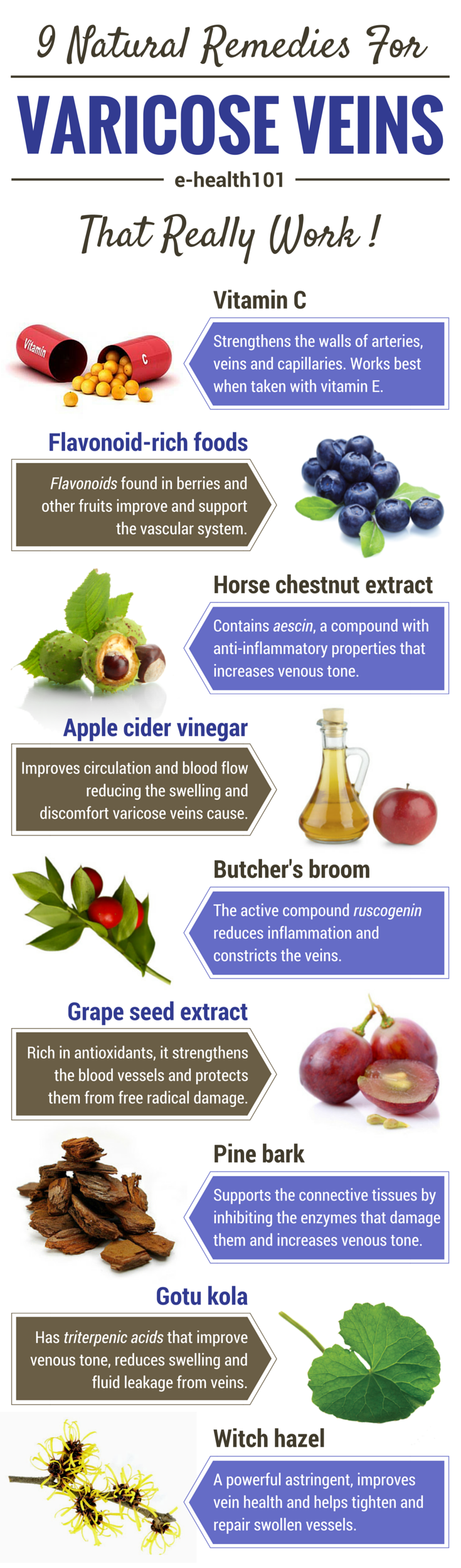 Heal Varicose Veins With These 9 Natural Remedies Infographic