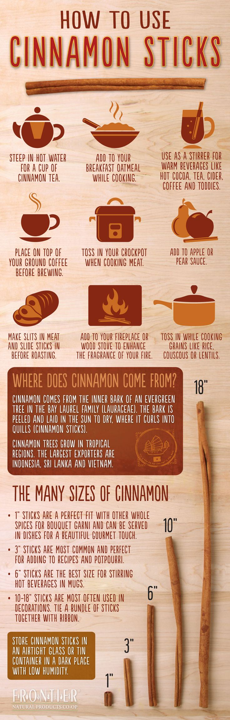 How To Use Cinnamon Sticks In Your Cooking Infographic