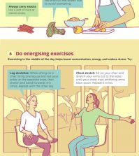 9 Everyday Habits For Being Fit And Healthy Infographic