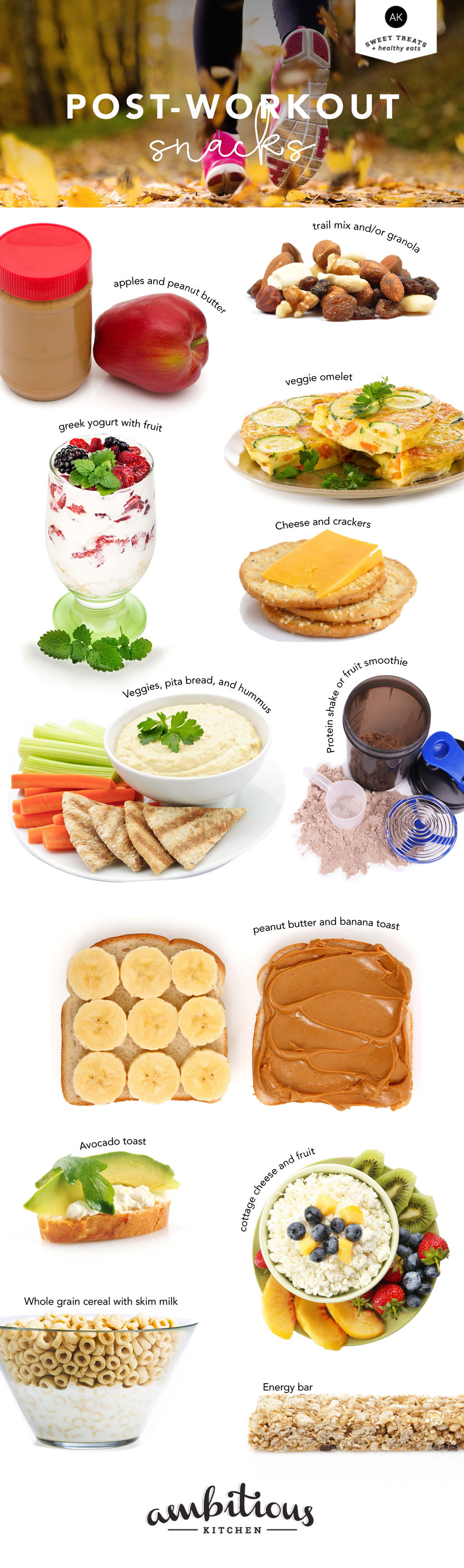 Best Post-Workout Snack Ideas For A Quick Energy Boost Infographic