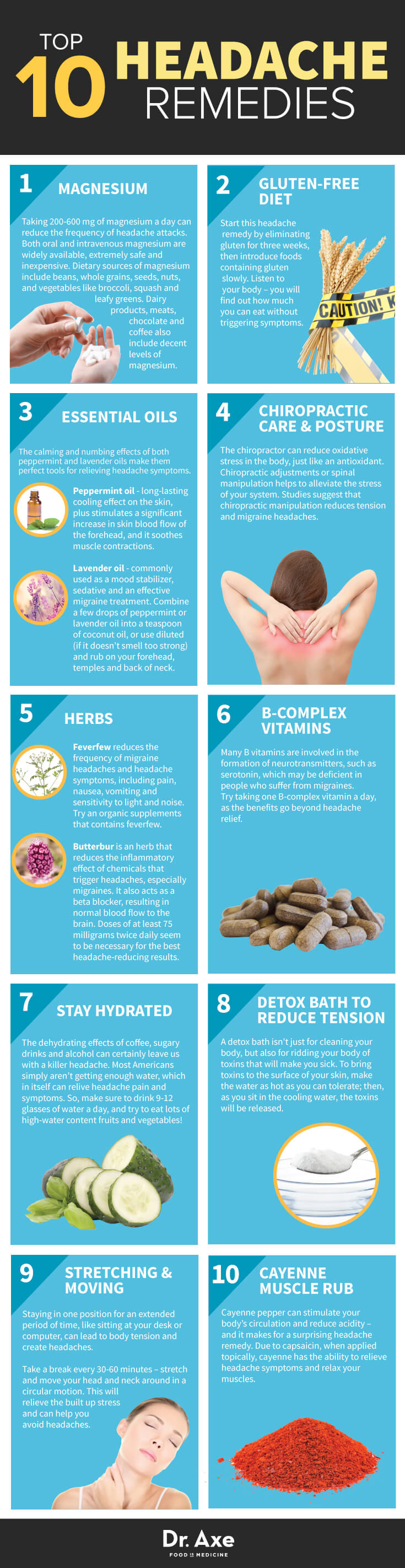 10 Things You Can Do To Alleviate Headaches Naturally Infographic