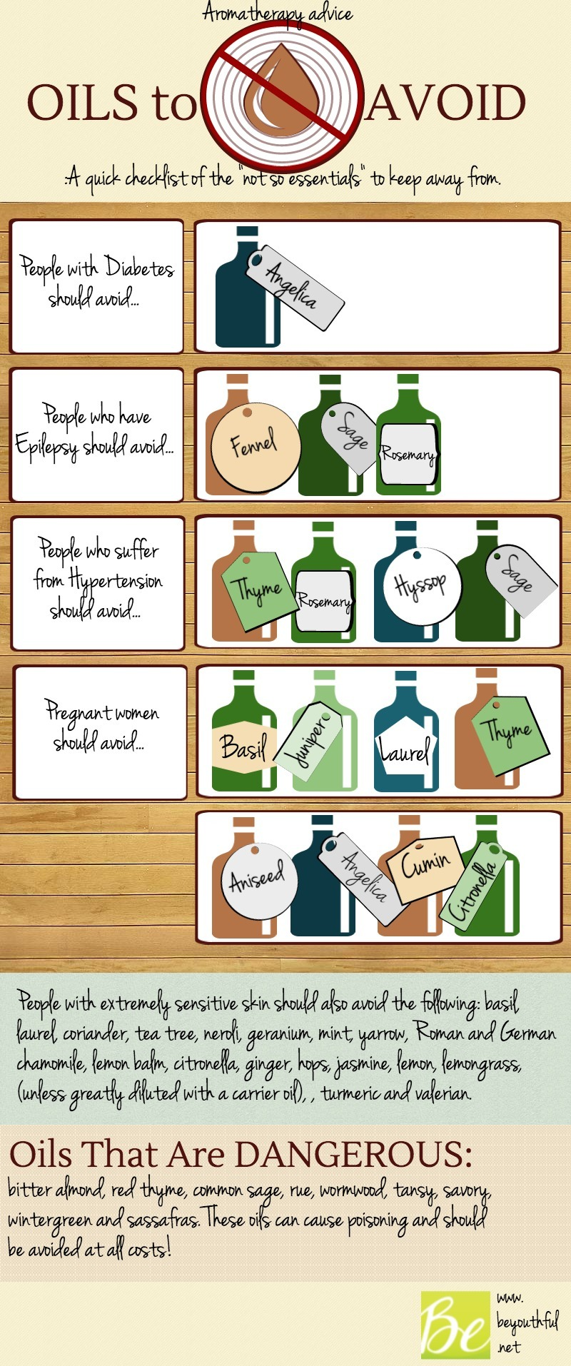 Be Careful: These Essential Oils Can Be Dangerous Infographic