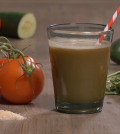Super Healthy And Quick Tomato Basil Juice Recipe Video