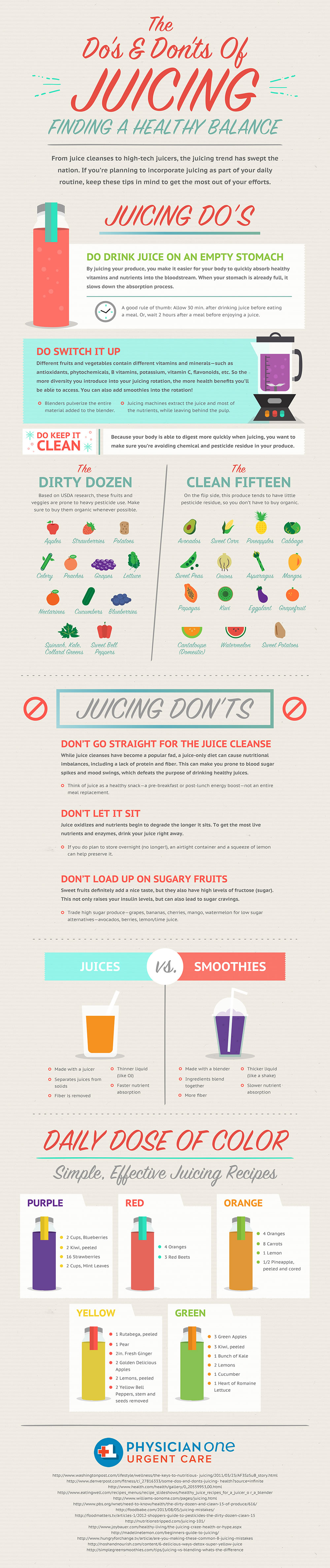 Dos And Don'ts Of Juicing For Beginners Infographic