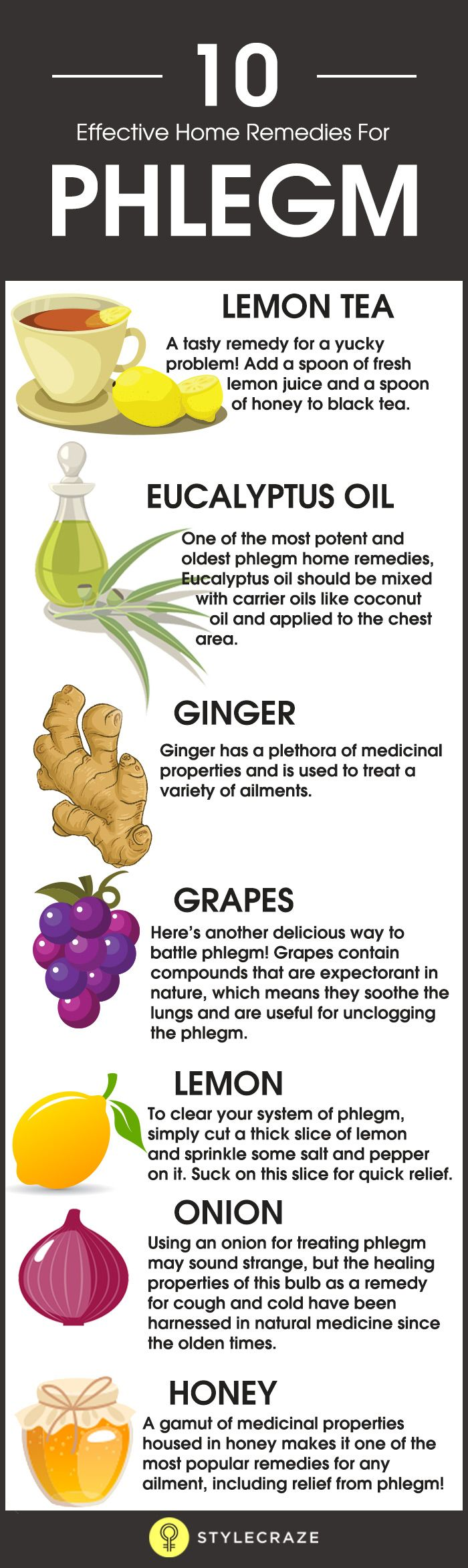 Getting Rid Of Phlegm: The Most Effective Home Remedies Infographic