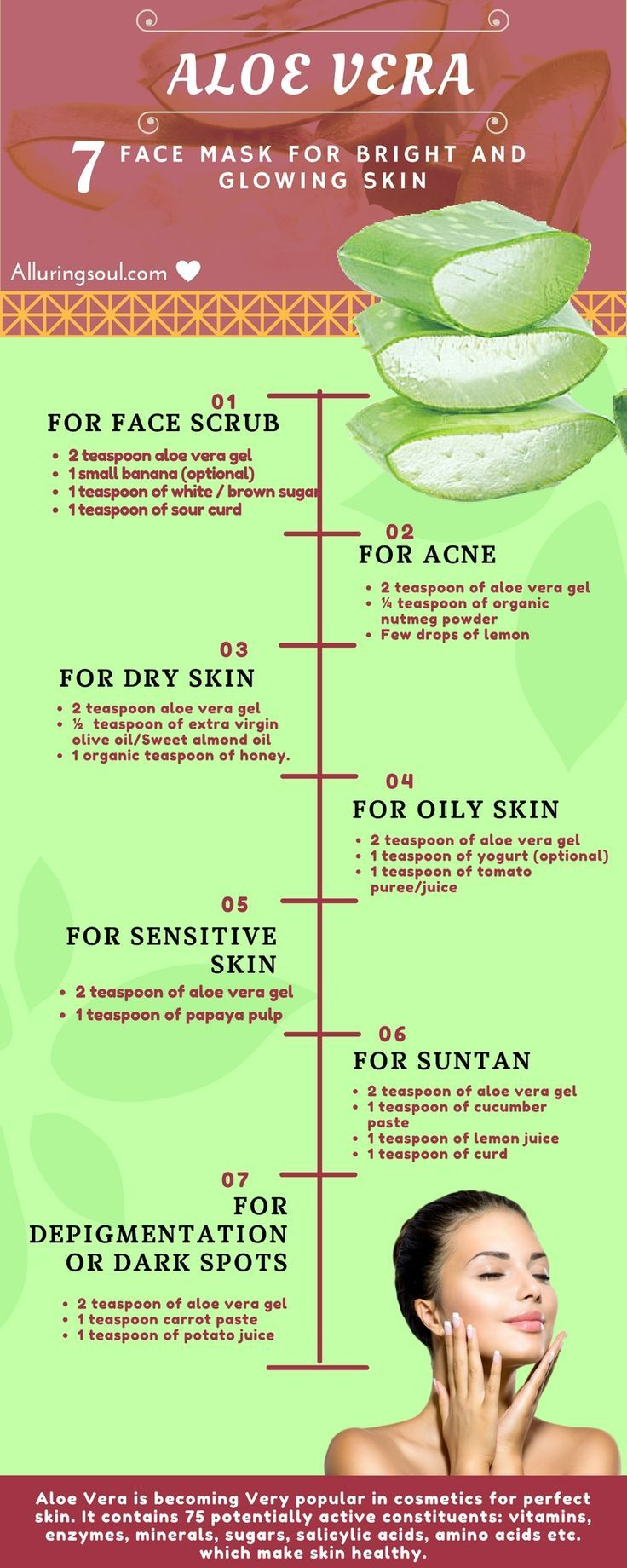 Using Aloe Vera For Improving Your Skin Health Infographic