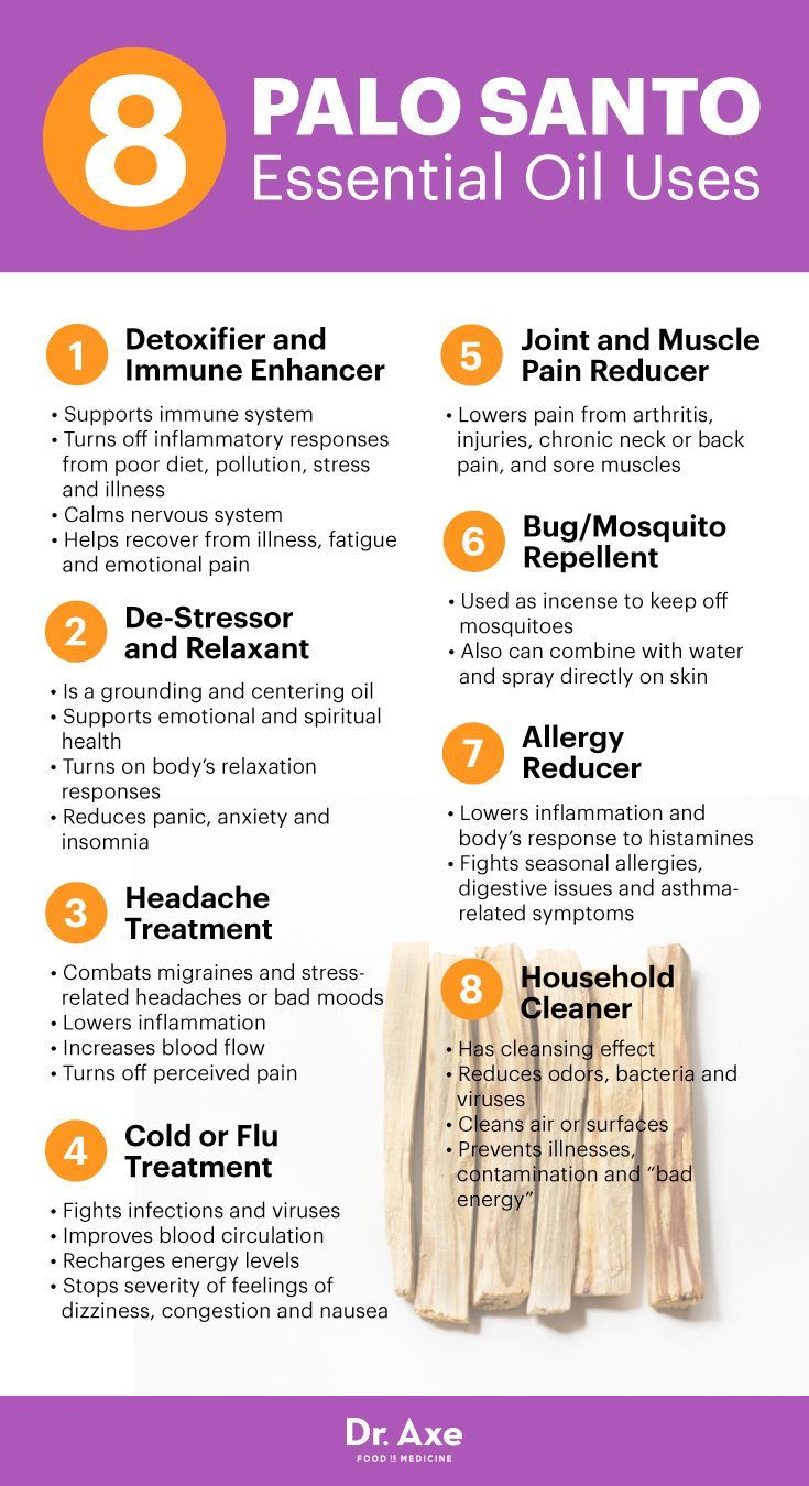 Palo Santo Essential Oil Health Benefits And Best Uses Infographic