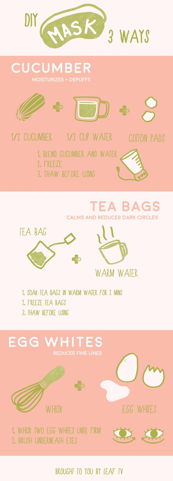 3 DIY Face Masks For A Quick Beauty Fix Infographic