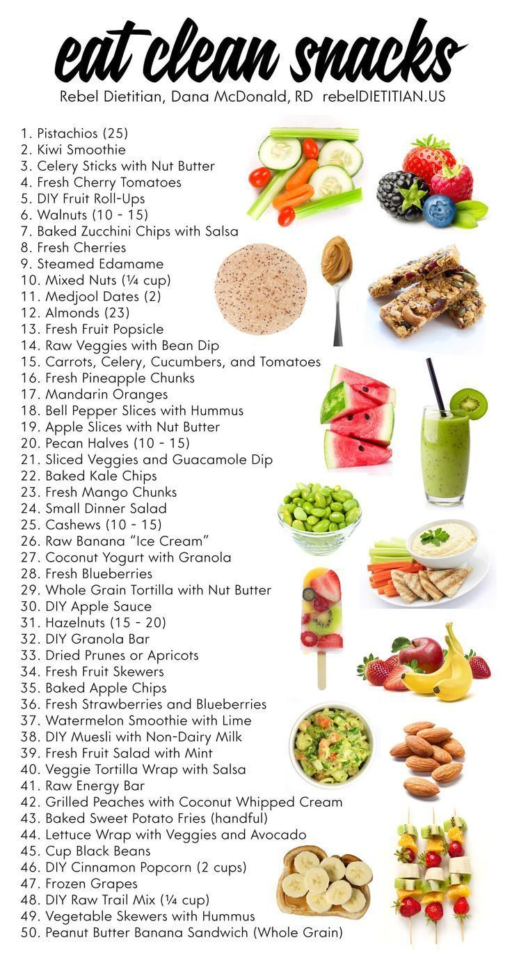 50 Healthy Ideas For Guilt-Free Snacking Infographic