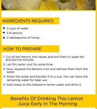 Boil Lemons In Water For A Healthy Morning Drink Infographic