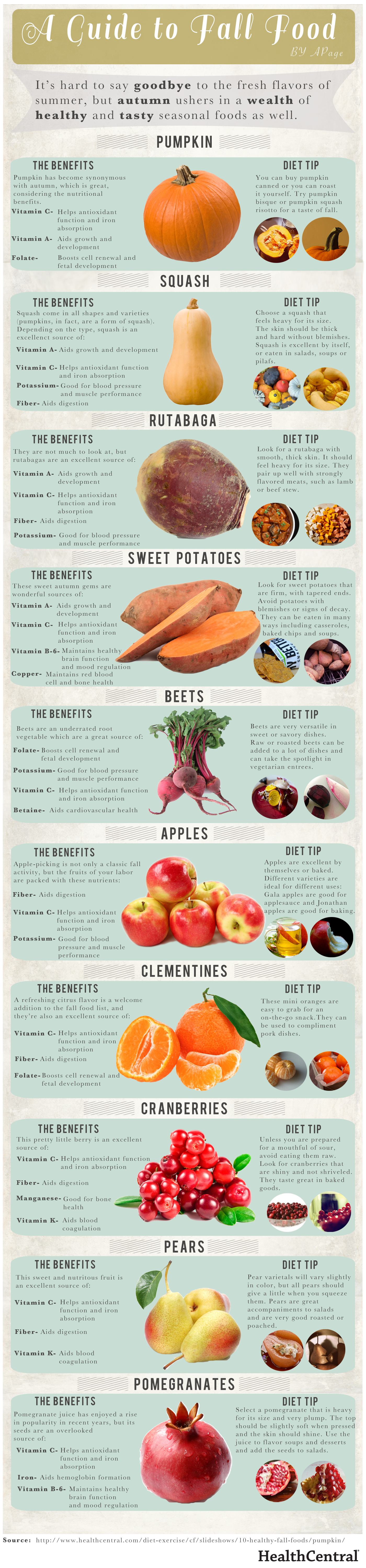 Fall Is Here: Which Fruits And Vegetables Are In Season? Infographic