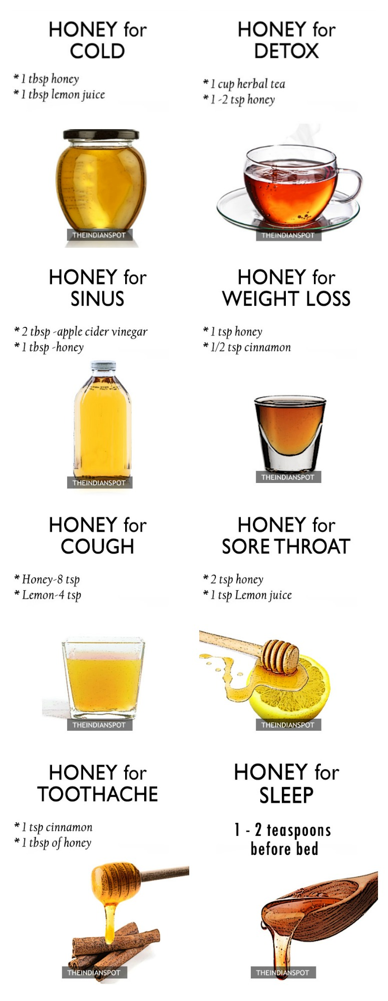 Honey As A Multi-functional Cure Infographic