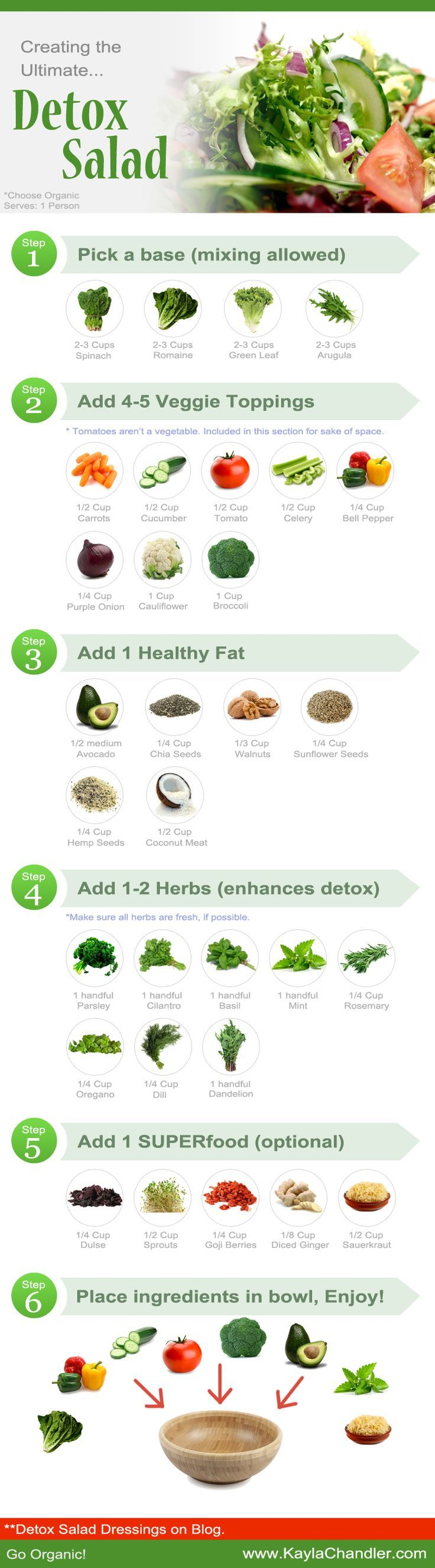 The Ultimate Detox Salad Recipes You Need To Try Infographic