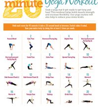 An Illustrated Guide To A 20 Minute Full Body Yoga Workout Infographic