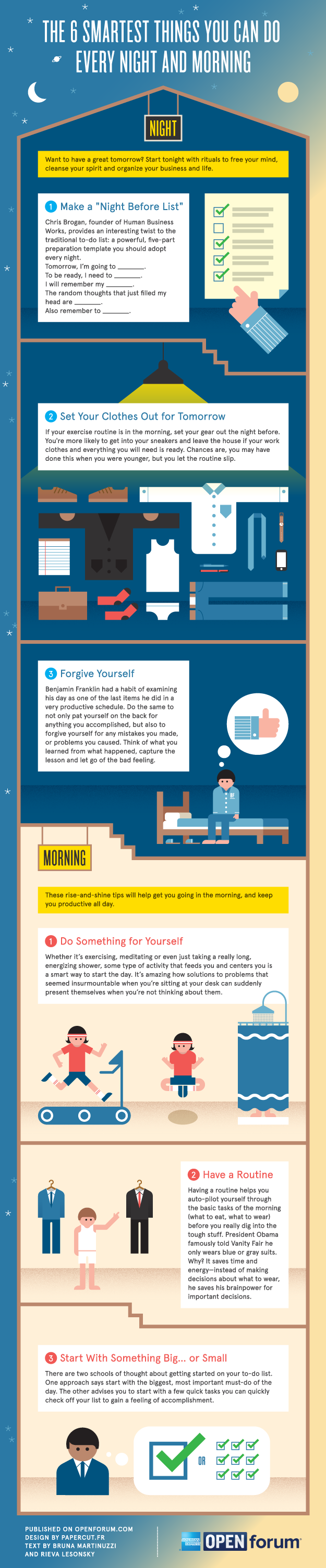 Six Smart Tips For Giving Your Day A Good Start Infographic