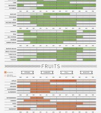 Bountiful Year: What To Eat, When To Eat It Infographic