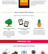 The Best Tips For Beating Stress And Boosting Happiness Infographic