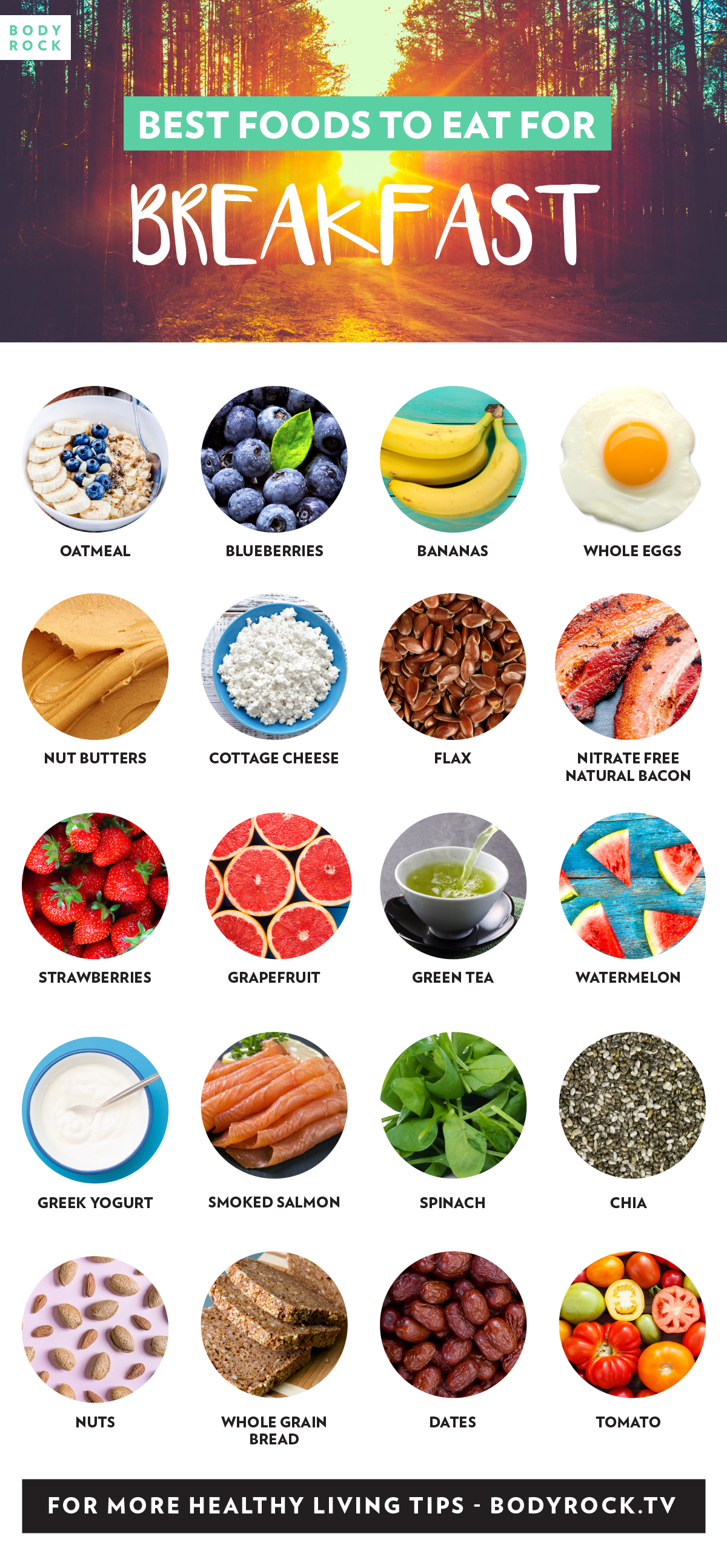 The Best Food Choices For A Nutrition-Packed Breakfast Infographic
