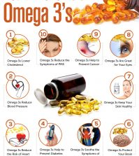 Omega 3's: 10 Benefits For Your Health Infographic