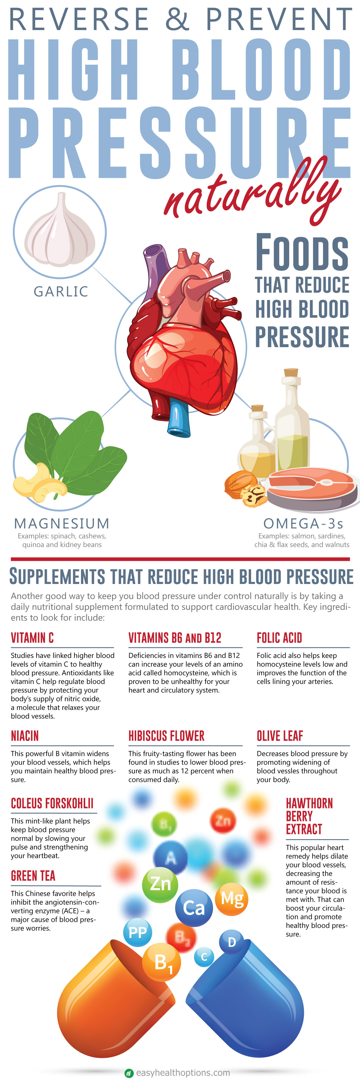 How To Treat High Blood Pressure Naturally Infographic