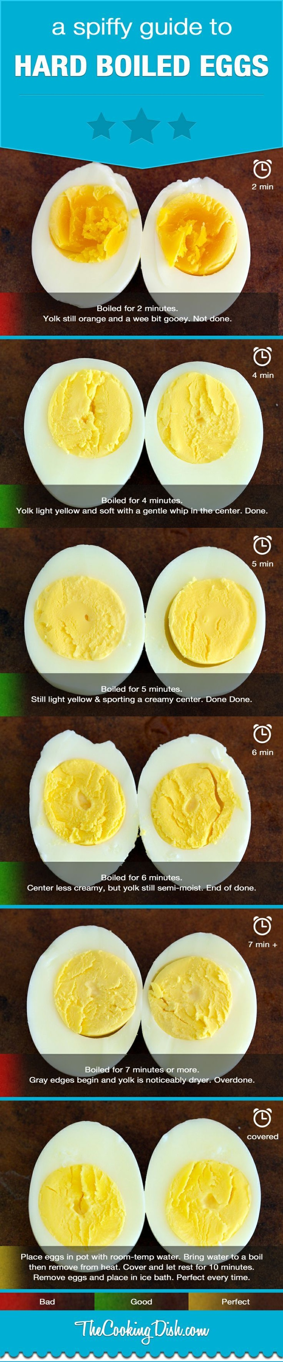 A Quick Guide To Hard Boiled Eggs Done Right Infographic