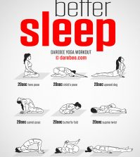 Yoga Postures That Will Help You Ease Into Sleep Infographic