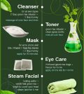 Best Ways To Use Green Tea For Your Skincare Infographic