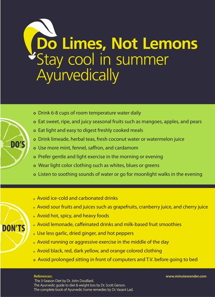 Ayurvedic Tips For Staying Healthy This Summer Infographic