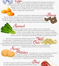 Prevent Hair Loss With These 10 Superfoods Infographic