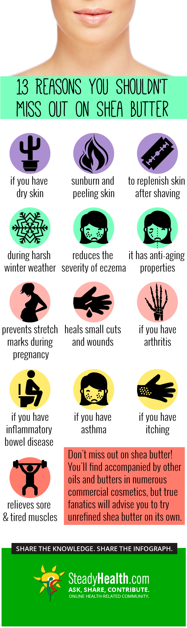 13 Reasons To Use Shea Butter In Your Skin Care Routine Infographic