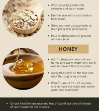 Use The Power Of Oatmeal And Honey To Get Rid Of Acne Infographic